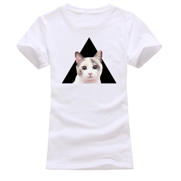 3D Cat Printed Cute Tee - Kitty Puppies