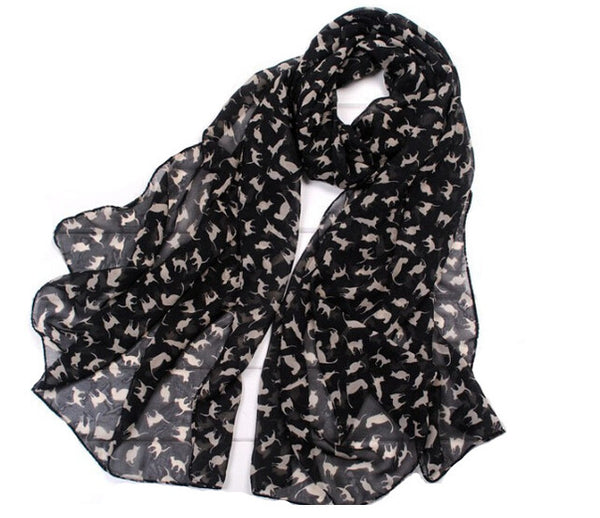 Cat Lover Scarf - Kitty Puppies