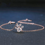 Crystal Dog Paw Bracelet - Kitty Puppies