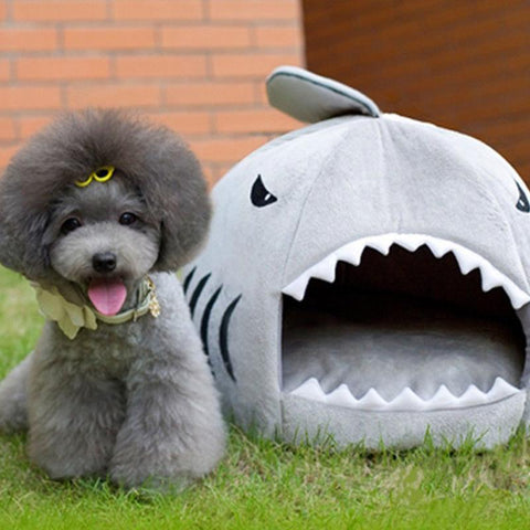 High-Quality Shark-Shaped Bed for Dog/Cat - Kitty Puppies