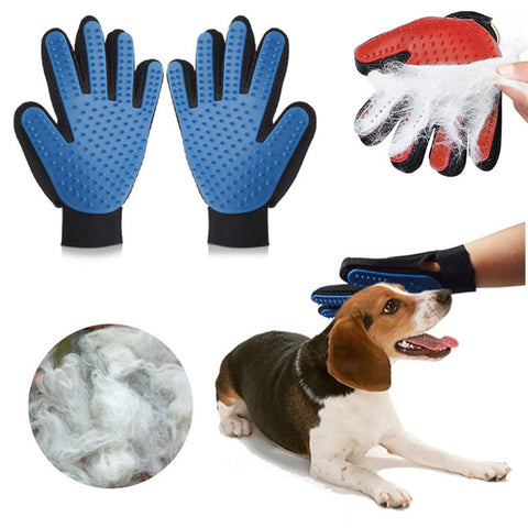 Pet Deshedding Brush Glove (Great for Cats/Dogs) - Kitty Puppies