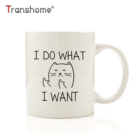 I Do What I Want Cat Coffee Mug - Kitty Puppies