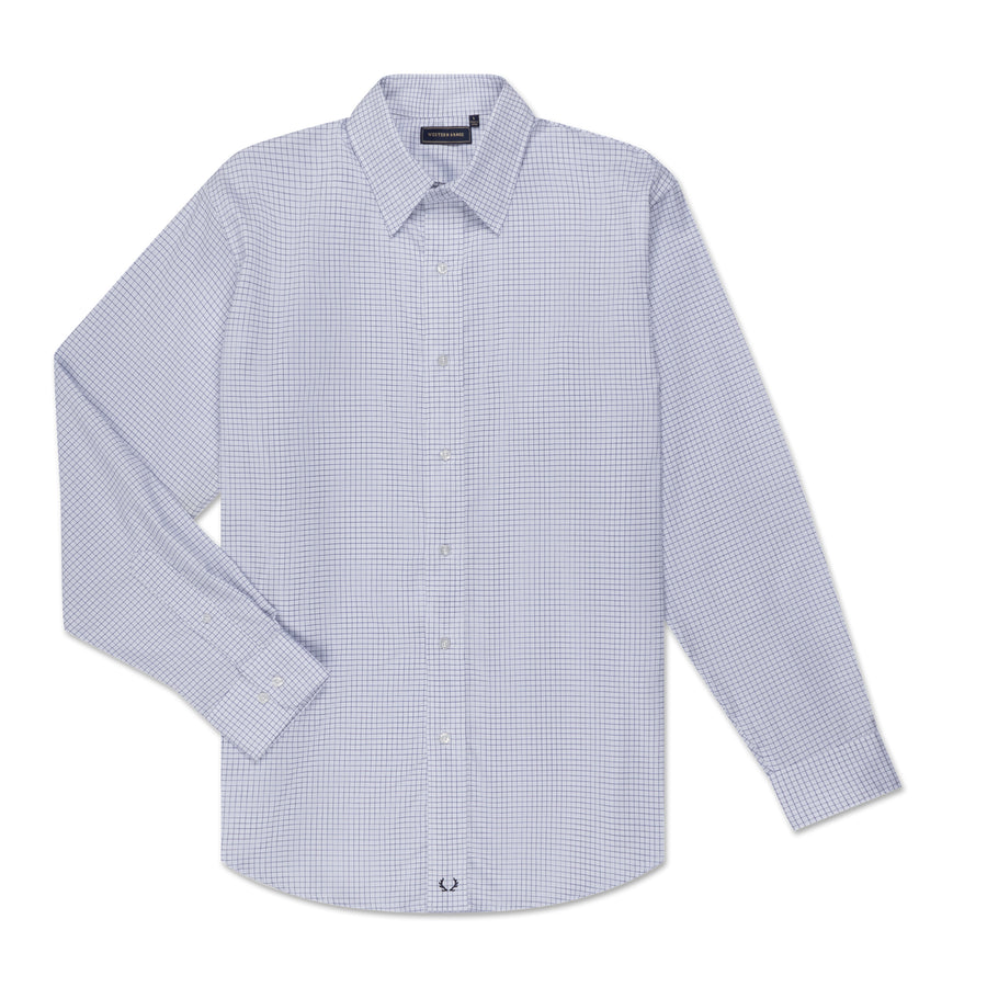 Men's Dress Shirt - Blue Pinpoint