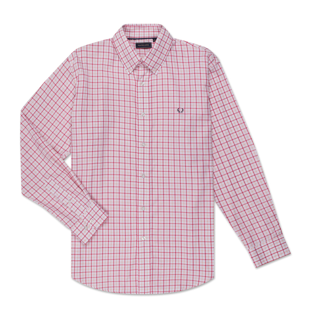 The Casual Button Down - Red and Pink Check