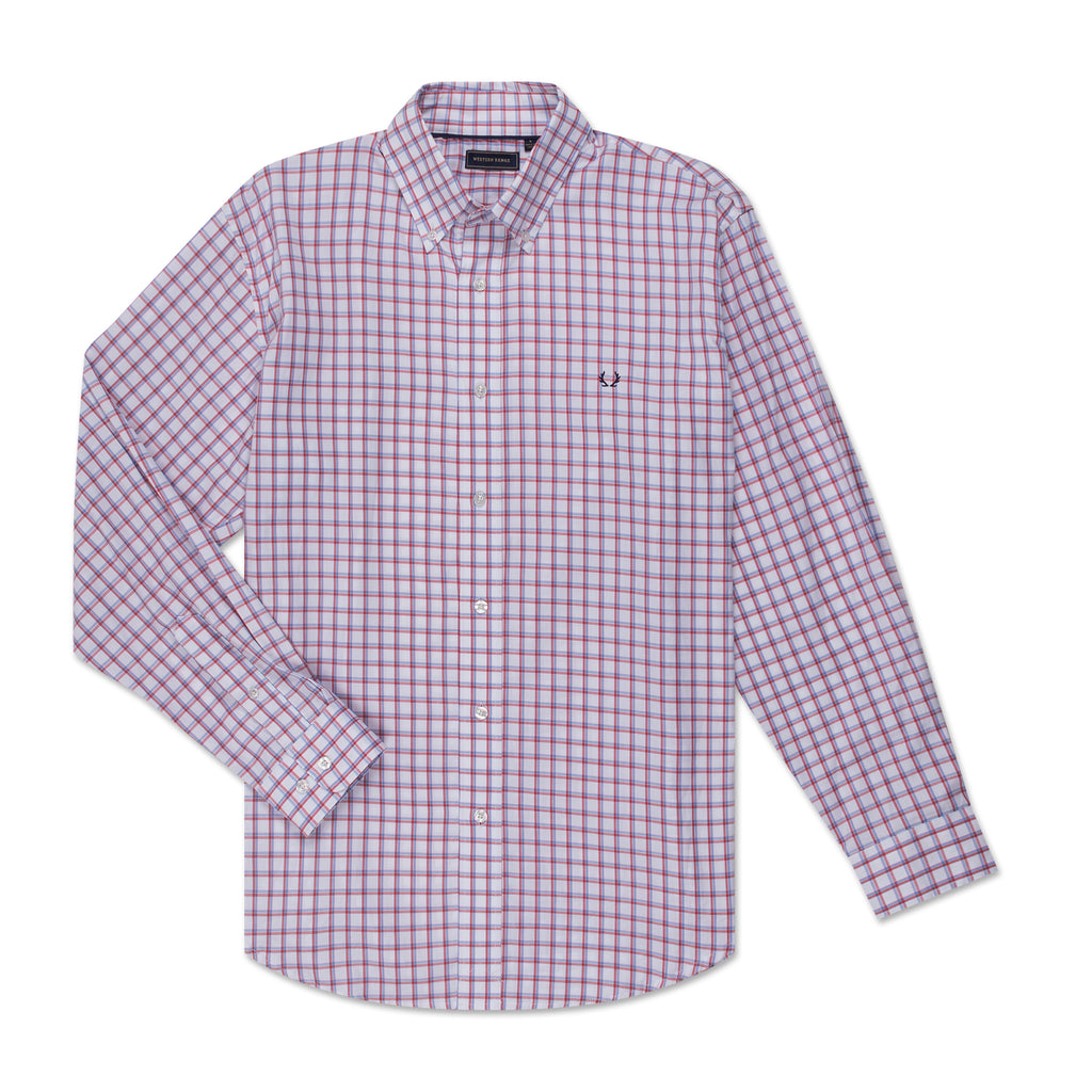 The Casual Button Down - Red and Blue Check