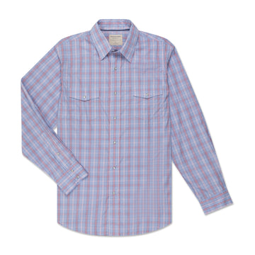 Men's Pearl Snap - Red Check