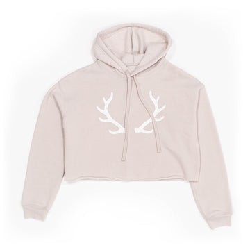 The Antler Crop Hoodie in Heather