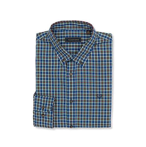 The Mount Bannon Shirt in Navy & Green