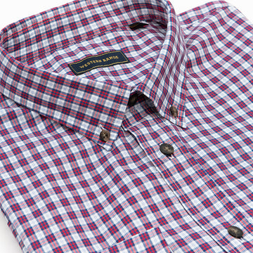 The Mount Bannon Shirt in Red & Blue