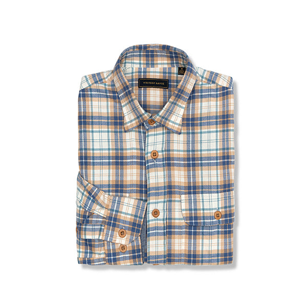 The Fall Creek Flannel in Gold, Blue & Green
