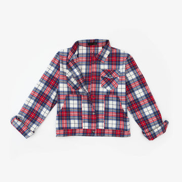 The Great Plains Jacket in Red & Blue