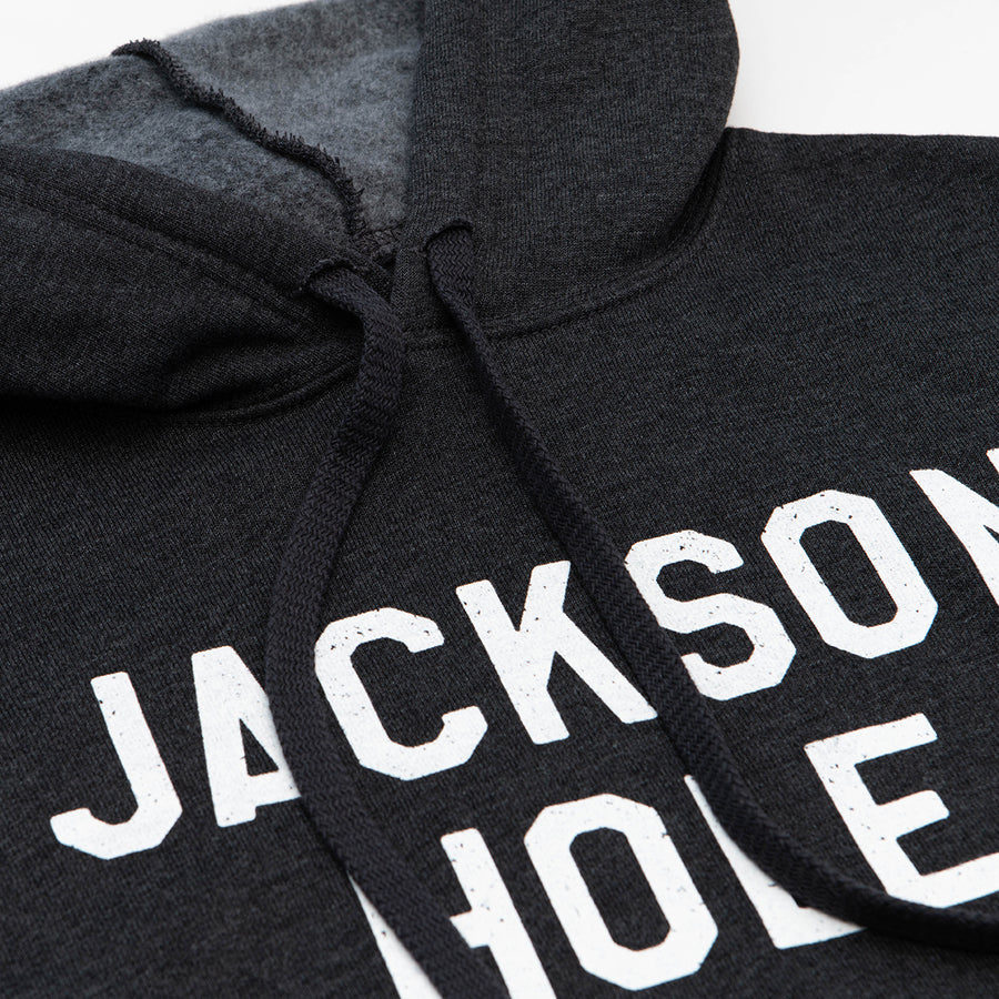 The Jackson Crop Hoodie in Heather Black