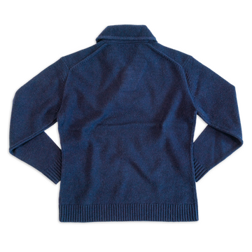 Shawl Collar Sweater in Navy