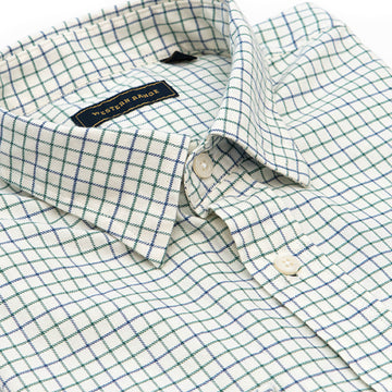 The Surveyor Sport Shirt in Green & Blue