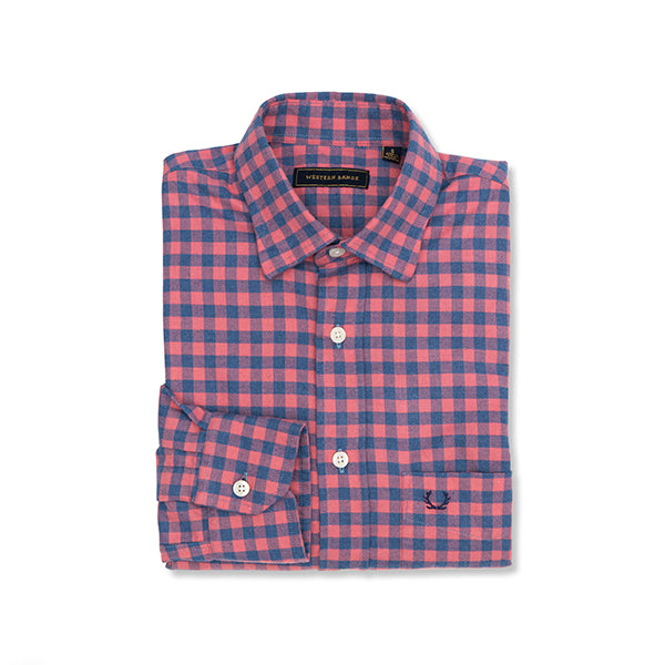 The Surveyor Sport Shirt in Pink & Navy