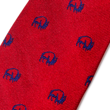 The Buffalo Tie - Red with Navy