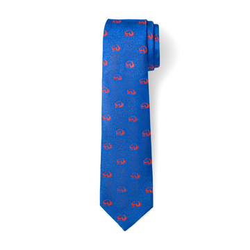 The Buffalo Tie - Blue with Orange
