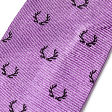 The Antler Tie - Lavender with Black