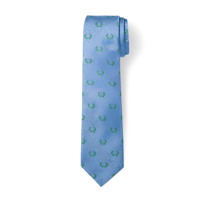 The Antler Tie - Sky with Sage