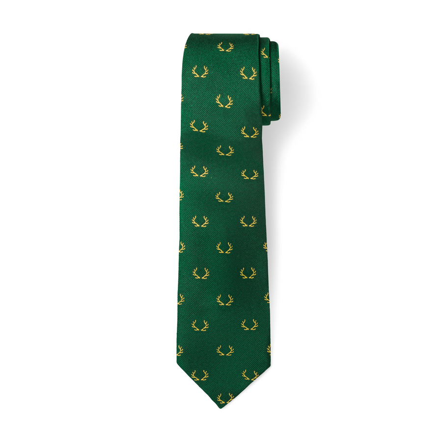 The Antler Tie in Green/Yellow