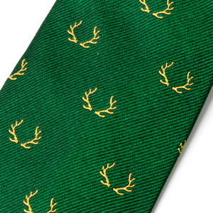 The Antler Tie - Green with Yellow