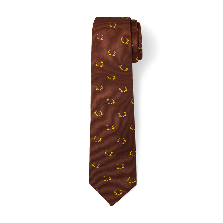 The Antler Tie in Brown/Gold