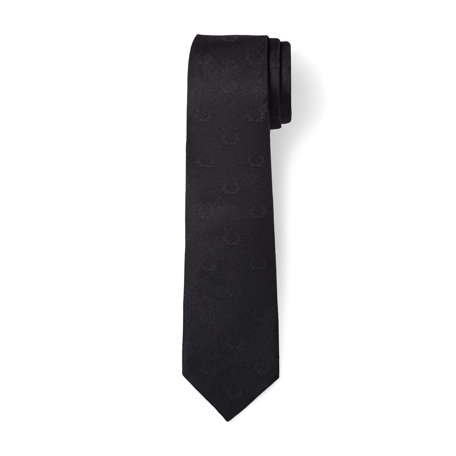 The Antler Tie in Black/Black