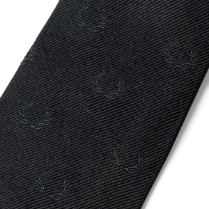 The Antler Tie - Black with Black