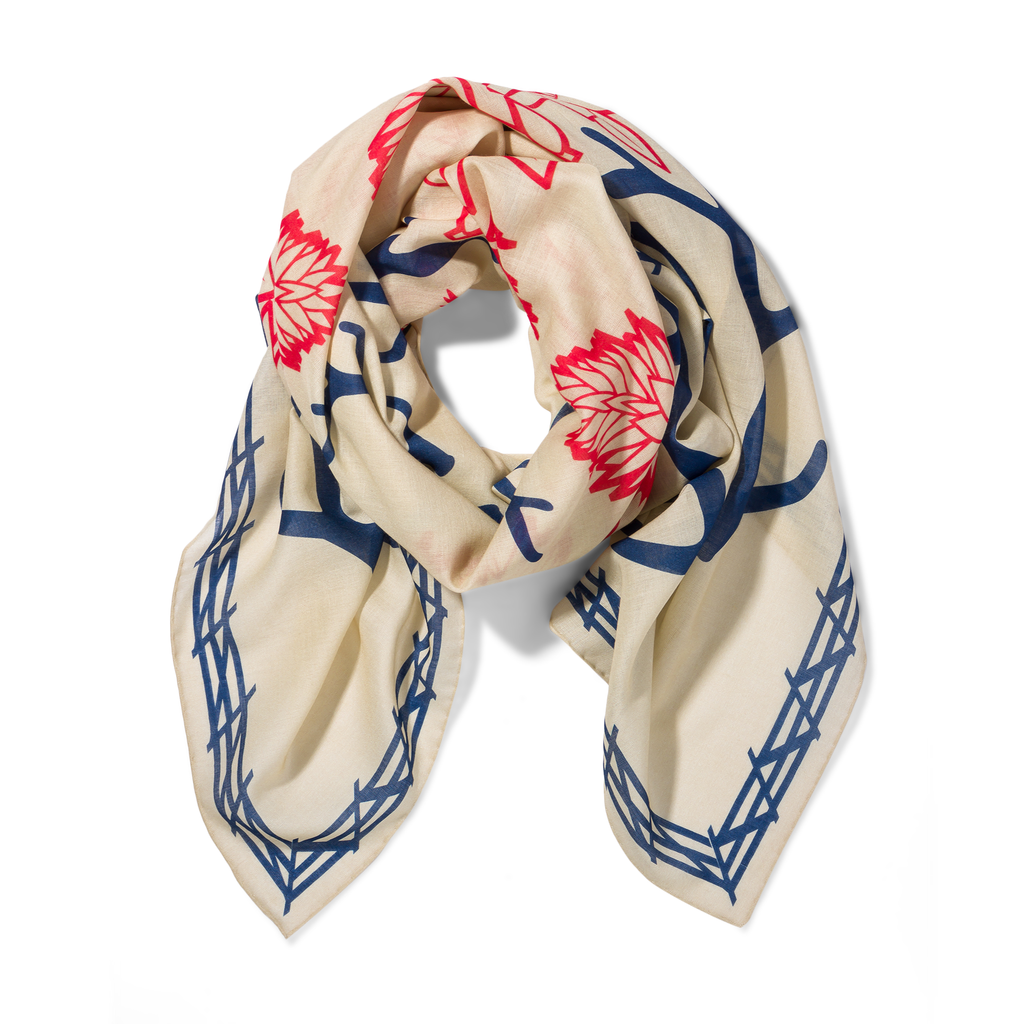 The Range Scarf - Paintbrush and Cream