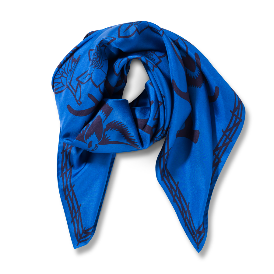 The Range Scarf in Blue