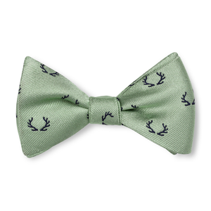 Boys Antler Bow Tie - Sage with Navy
