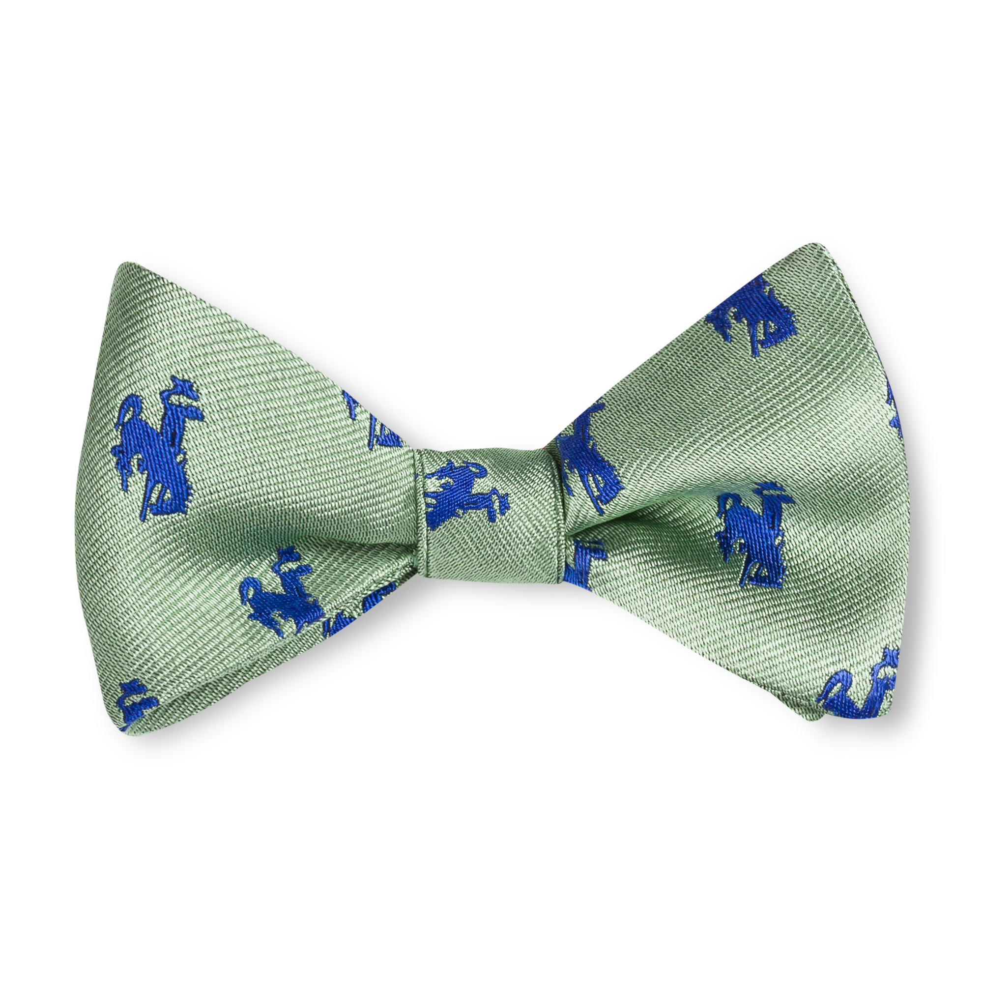 The Bronc Bow Tie - Sage with Blue