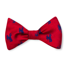 The Bronc Bow Tie - Red with Navy