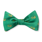 The Buffalo Bow Tie – Green with Gold