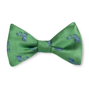 Boys Fly Tie Bow Tie - Green with Blue