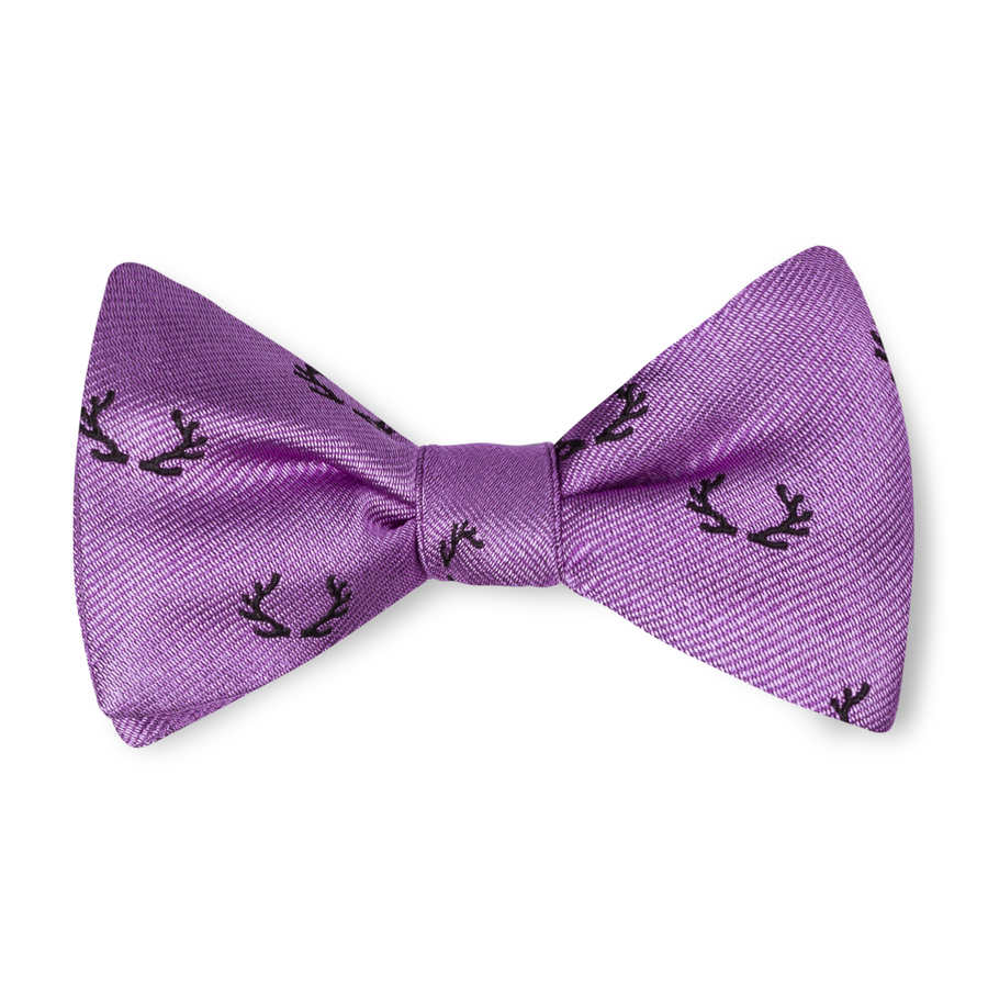 The Antler Bow Tie – Lavender with Black