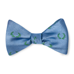 Boys Antler Bow Tie - Sky with Sage