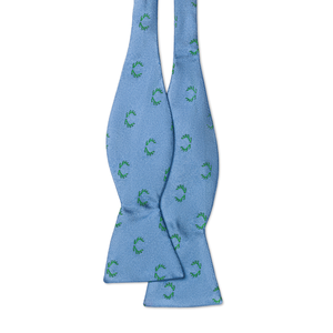 The Antler Bow Tie - Sky with Sage