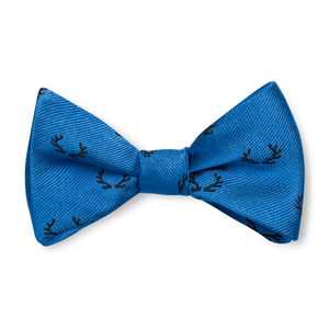 Boys Antler Bow Tie - Royal with Navy