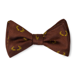 The Antler Bow Tie - Brown with Gold