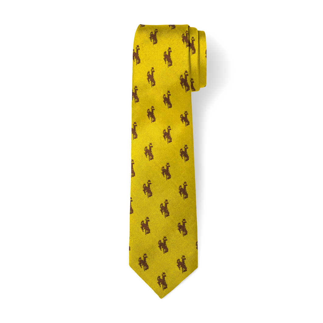 The Bronc Tie - Gold with Brown