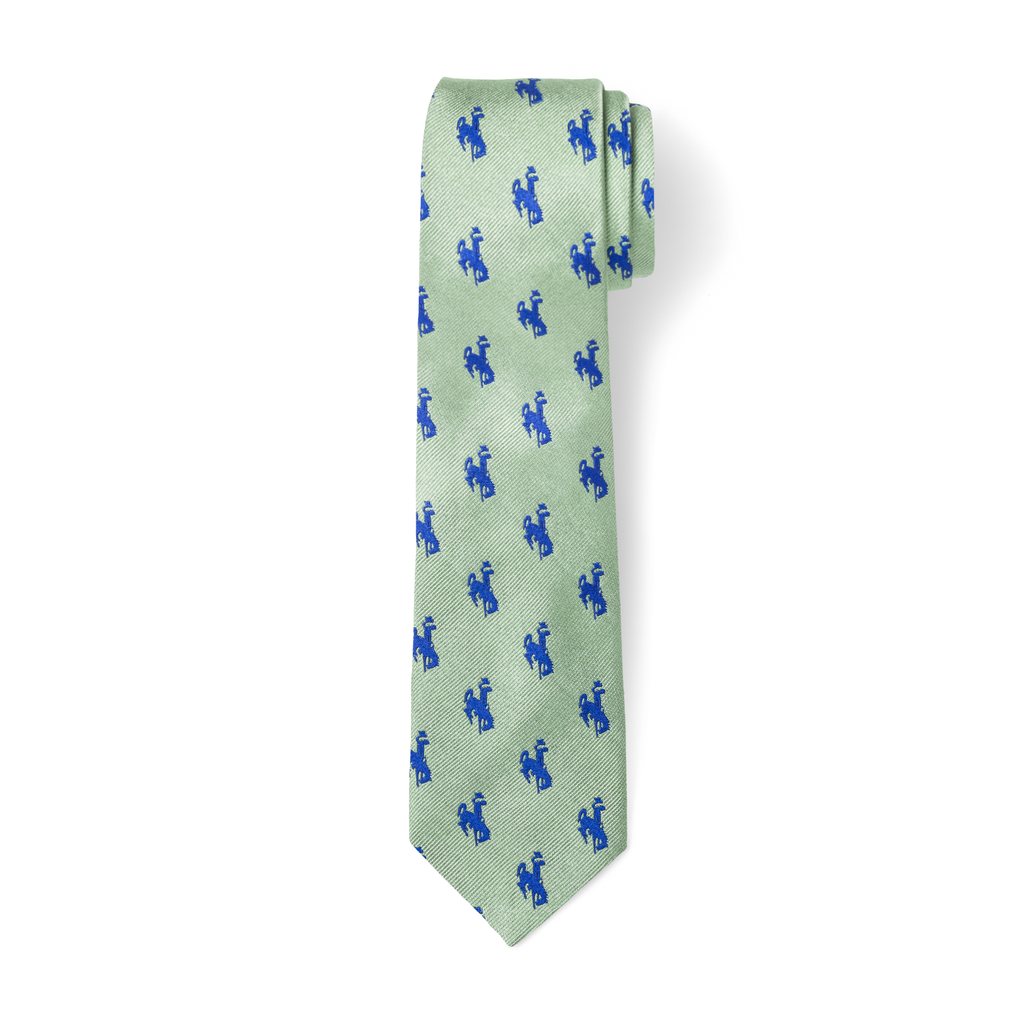 The Bronc Tie - Sage with Blue