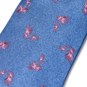 The Fly Tie - Blue with Pink