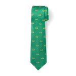 The Buffalo Tie - Green with Gold