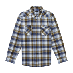 Snowdrift Overshirt in Blue & Brown