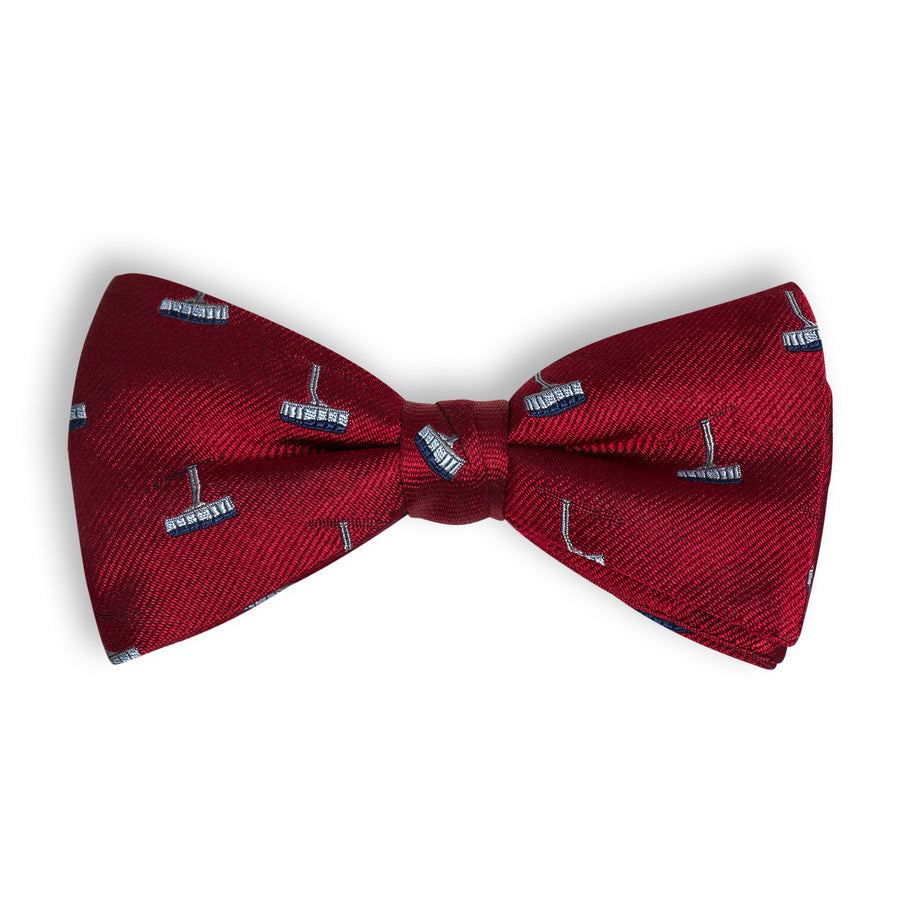 The Tram Bow Tie - Deep Red