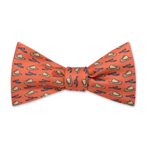 The Hat & Spur Bow Tie - Sunset Orange