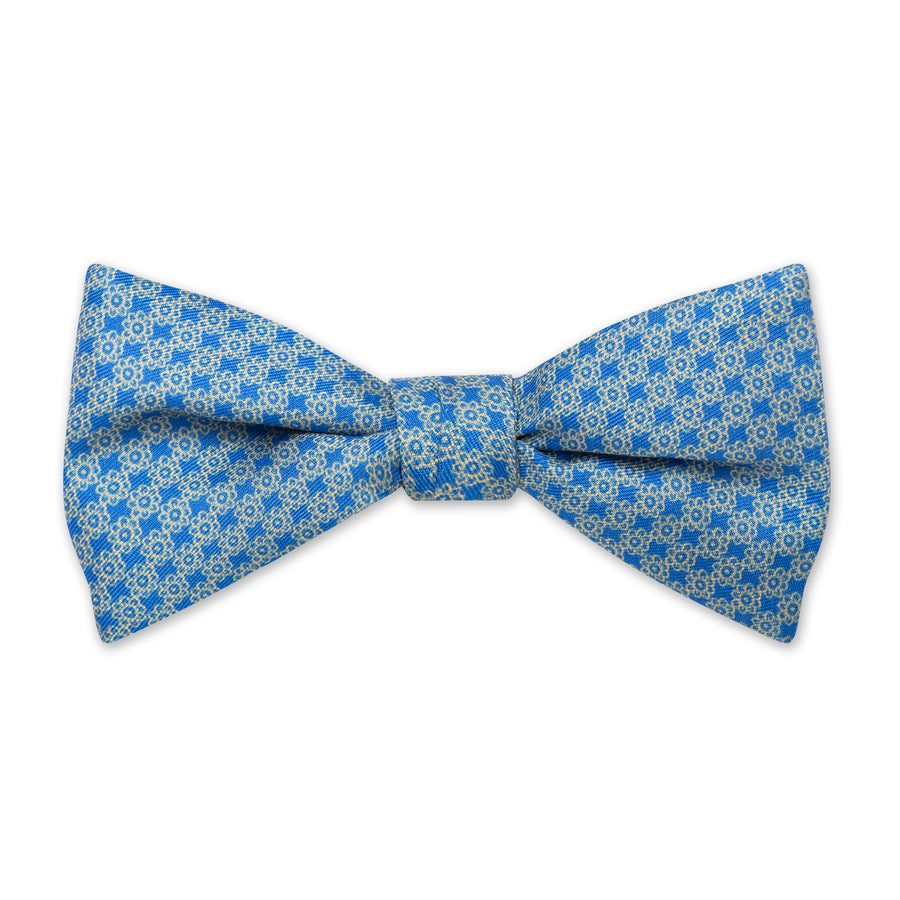 The Vintage Flower Bow Tie - Clear Blue