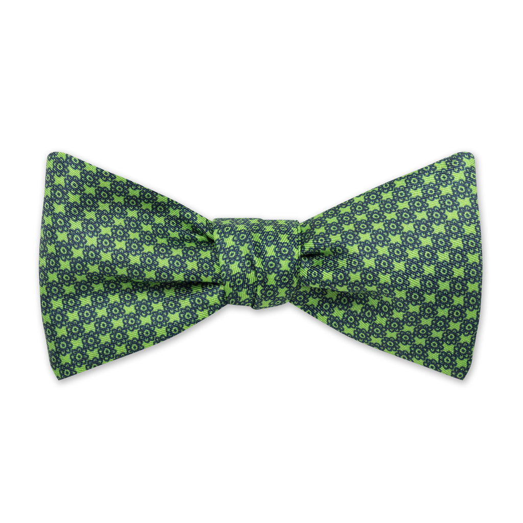 The Vintage Flower Bow Tie - Grass