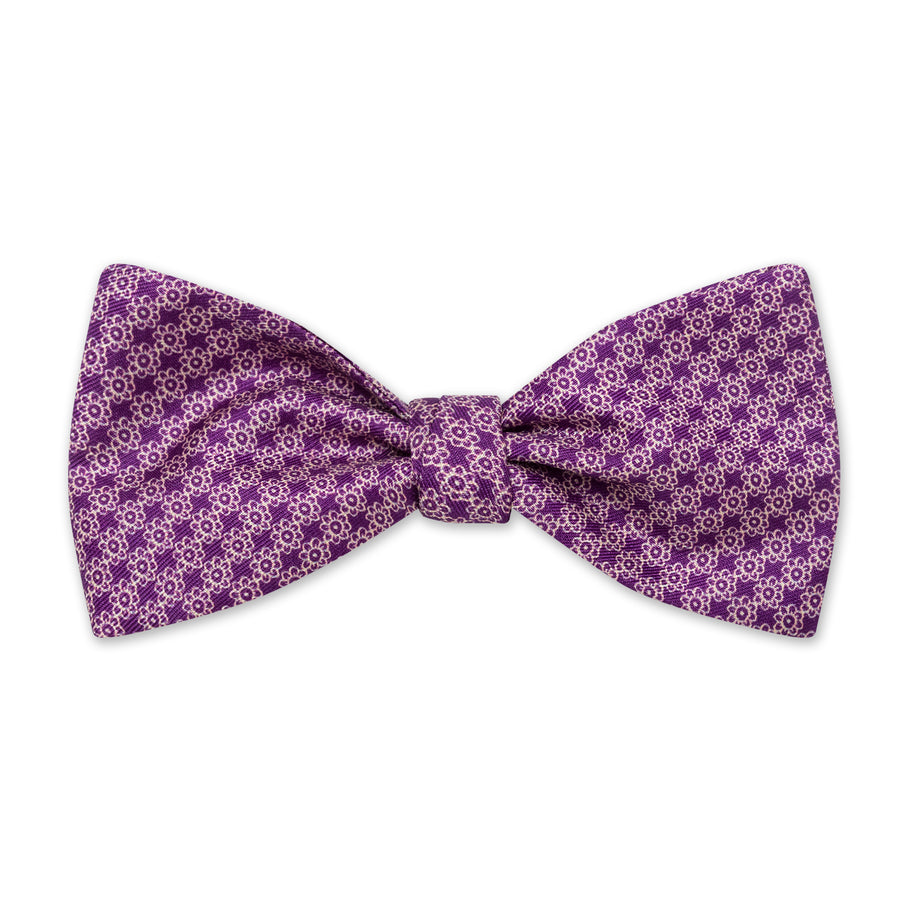 The Vintage Flower Bow Tie - Plum